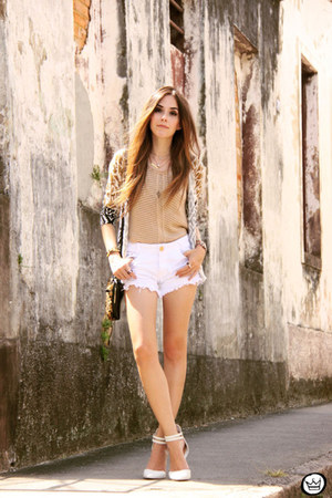 white Degrant shorts