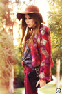 Maroon-nasty-gal-coat-tawny-asos-hat-brick-red-salsa-pants