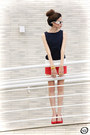 Navy-slash-store-dress-red-angel-shoes-white-romwe-sunglasses