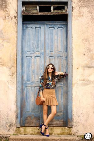 navy Lez a Lez shirt - bronze Forever21 skirt