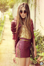 Crimson-asos-jacket-tan-romwe-bag-crimson-spikes-morena-raiz-skirt