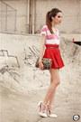 Romwe-skirt-asos-heels