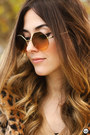Black-romwe-coat-bronze-zerouv-sunglasses-light-yellow-gap-jumper