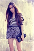 heather gray H&M skirt - black Renner blazer - white Hering top