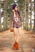 purple Decote jacket - amethyst Decote shorts