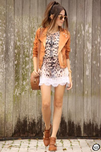 cream Moikana dress - orange Moikana dress