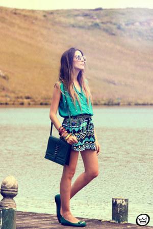 turquoise blue Dafiti skirt