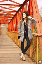 black Chicwish coat - black Gap t-shirt - black Relligion pants