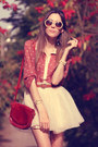 Coral-miss-patina-shirt-beige-romwe-sunglasses-peach-minusey-skirt