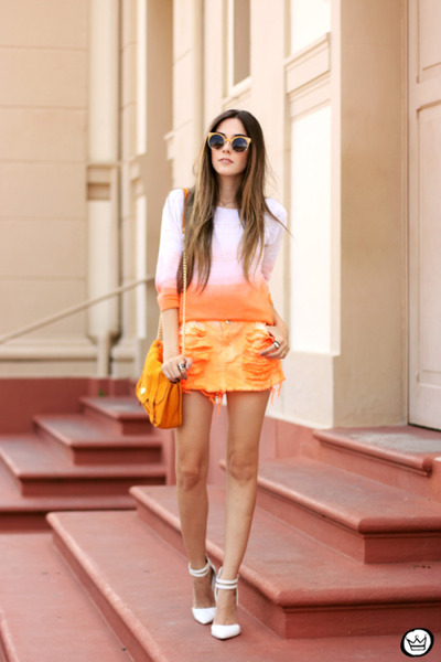 orange Degrant skirt