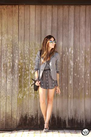 heather gray Lace & Whiskey dress