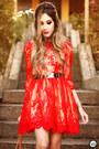 Red-feeluxury-dress-ruby-red-pomikaki-bag