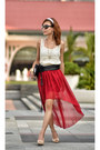 Ruby-red-hi-lo-skirt-twfs-skirt-eggshell-crochet-top-twfs-top