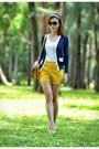 Yellow-twfs-bag-yellow-yellow-twfs-shorts-navy-blue-twfs-cardigan