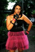 black Terranova top - black People are People shoes - pink custom made skirt