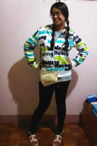 Billabong jacket - Juicy Couture purse - Topshop leggings - Linea Italia group s