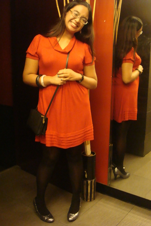 dress - stockings - shoes - purse