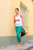 teal maternity jeans Topshop jeans - black satchel Topshop bag