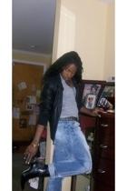 jacket - Target t-shirt - jeans - boots