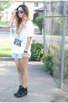 Forever 21 t-shirt - denim shorts Levis shorts