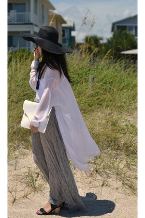 Zara hat - shopakira cardigan - Urban Outfitters skirt