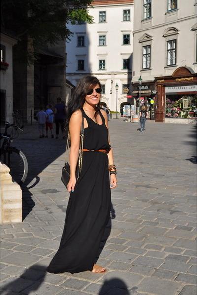 random brand dress - Zara bag - Forever 21 accessories