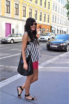 H&M shirt - H&M bag - Zara shorts - Zara sandals - Forever 21 accessories