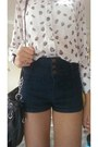 Blue-forever-21-shorts-forever-21-blouse