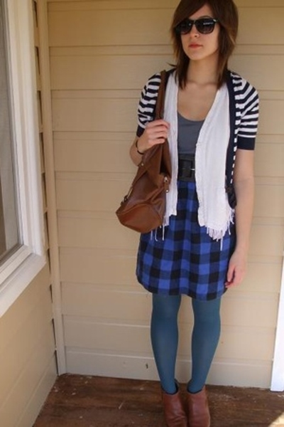 Myer tights - cotton on dress - skirt - Secondhand vest