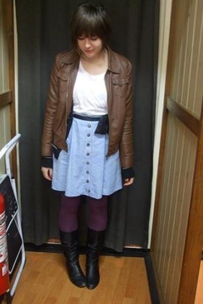 Big W jacket - Target scarf - Sportsgirl socks - Secondhand skirt