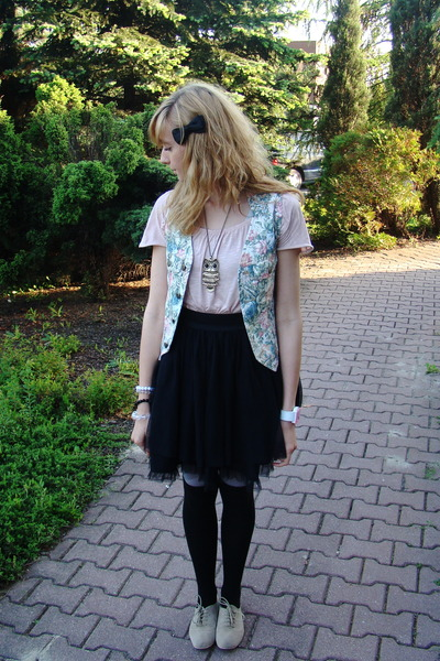 black River Island skirt - pink New Yorker blouse - pink no name socks - second
