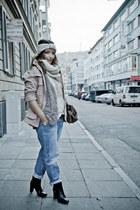 peach parka H&M jacket