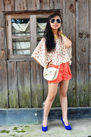 store pumps - Forever New bag - H & M shorts - Forever 21 sunglasses