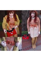 castle suede Betty Dumoulin bag - lace up suede Vintage 1960 shoes