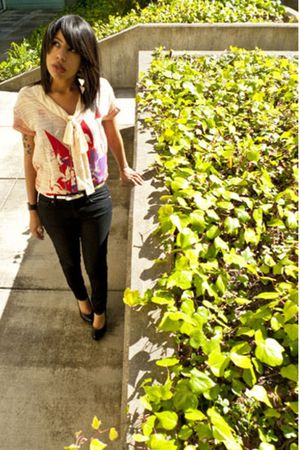 diesel floral blouse blouse - Jeffrey Campbell shoes - Forever 21 jeans
