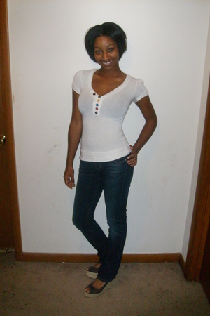 some store in the bronx shirt - Wet Seal jeans - Steve Madden shoes