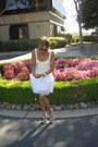 White-boxy-feathered-saks-dress-silver-t-strap-jeweled-heels