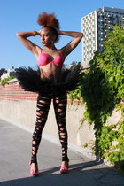 Wax tights - comfy pink bra xhilaration bra - Discount Dance skirt - coach watch