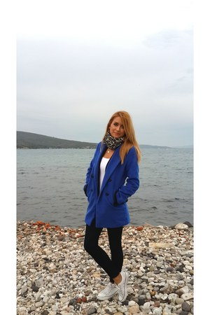 blue wool Choies coat