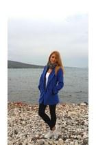 blue wool Choies coat