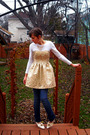 Gold-staccato-dress-white-forever-21-shirt-gold-vintage-necklace-white-vin