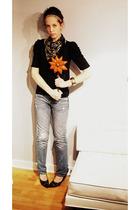 Wet Seal shirt - vintage scarf - vintage shoes - vintage bracelet - Forever 21 a