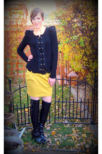 ryu sweater - Forever 21 skirt - Forever 21 belt -