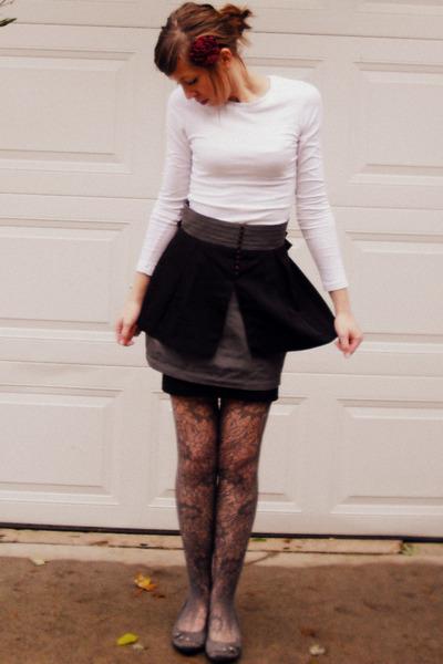 Forever 21 shirt - twelve by twelve skirt - Forever 21 skirt - Forever 21 tights