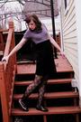 Black-forever-21-dress-black-aldo-tights-purple-diy-accessories