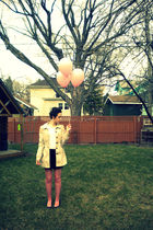 beige H&M coat - black Forever 21 skirt - pink H&M tights
