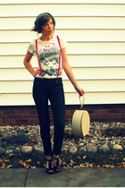 Forever 21 hat - Forever21 shirt - American Apparel accessories - vintage purse