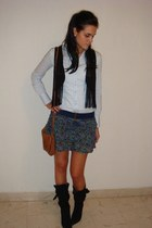 Calliope shirt - Topshop vest - Bershka skirt - pull&bear bag