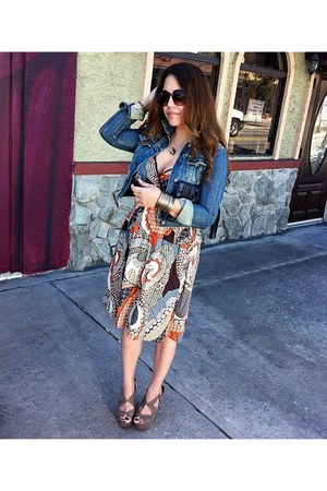 American Eagle jacket - midi dress midi boho dress dress