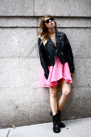 CHRISTOPHER CANE FOR TOPSHOP dress - H&M jacket - Dolce Vita boots